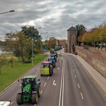 Bauern auf der Straße