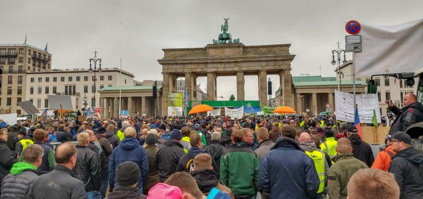 Kundgebung vor dem Brandenburger Tor am 26. November 2019.